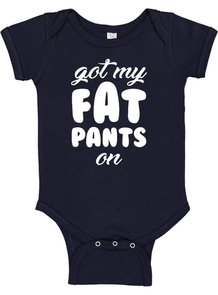 Bee Funny Baby Thanksgiving One-Piece Bodysuit Fat Pants