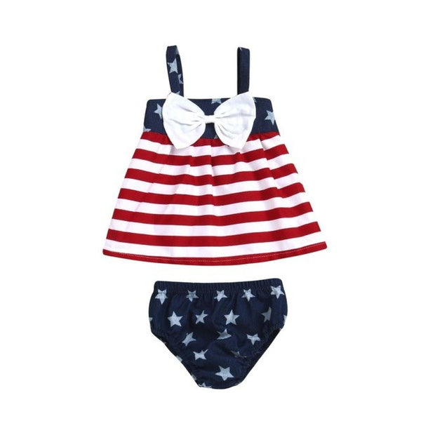 Baby Girls 2 Piece July 4th Americana Outfit