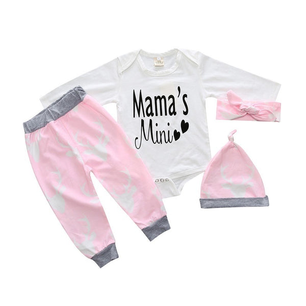 Newborn baby clothes Infant Baby Romper Kids Pajamas Girl Boy Outfits Clothes Romper Pant Deer Rompers 0-18 Months