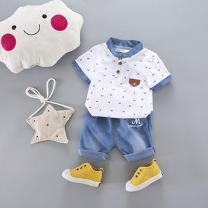 2 Piece Boys Polo Shirt + Pants Outfit