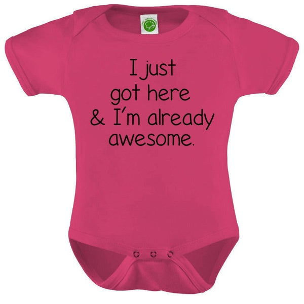 Funny Words Onesie Cotton Romper Baby Shower Gift Funny Pres