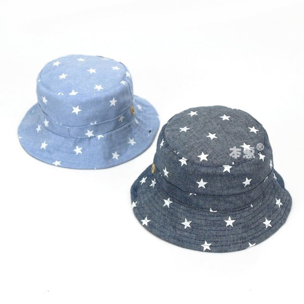 Baby Summer Sun Bucket Hat Star Print