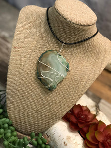 Wrapped Agate Necklace