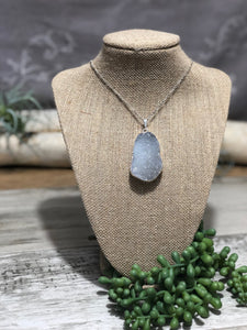 Sterling Silver Druzy Pendent