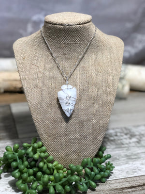 Arrowhead Wire Wrapped Pendant Necklace