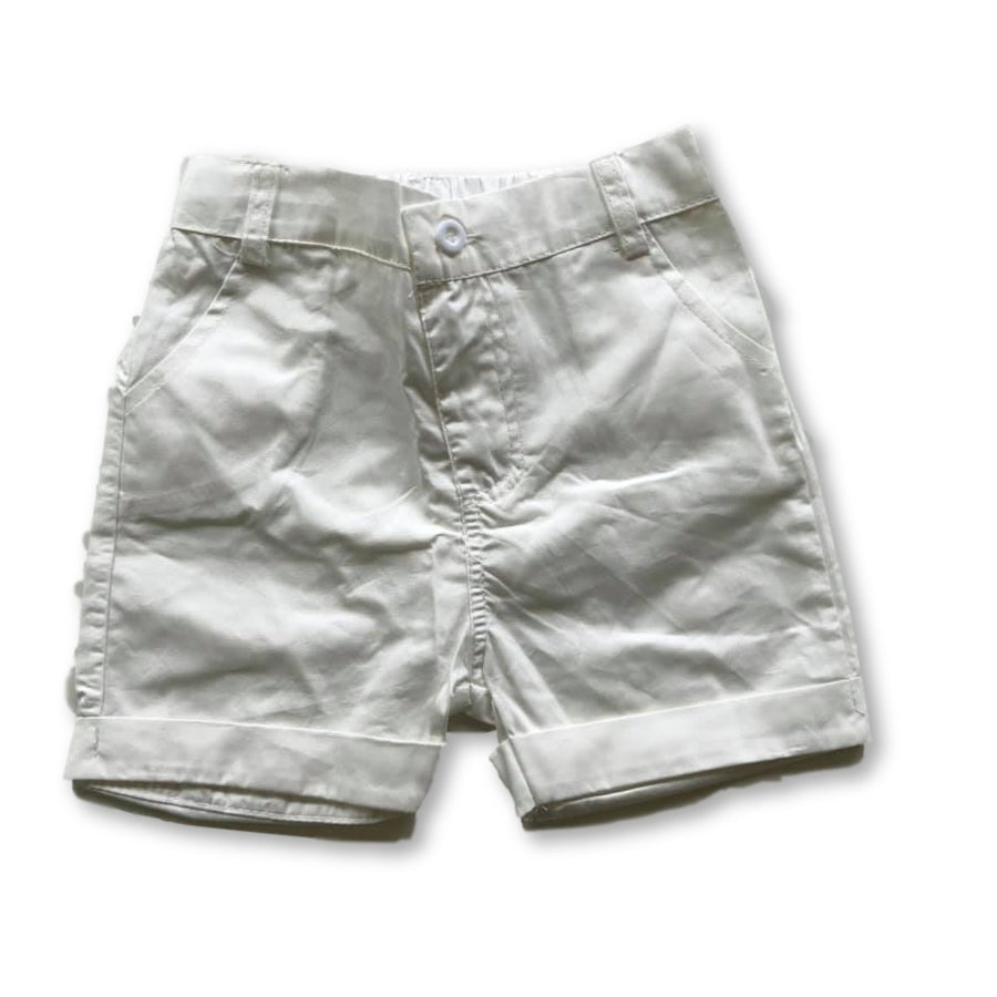 White Pocket Detail Shorts