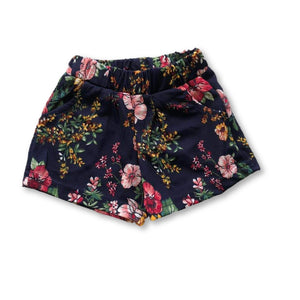 Navy Hibiscus Pocket Detail Shorts
