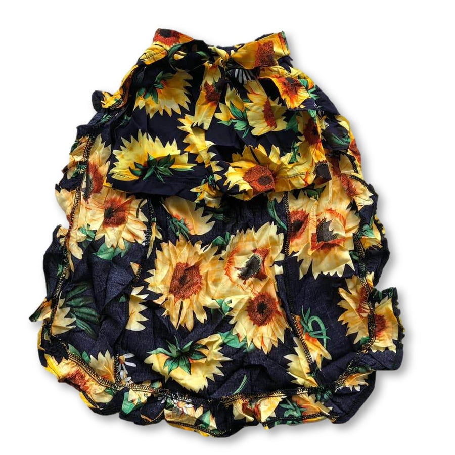 Black Sunflower Frill Skirted Shorts