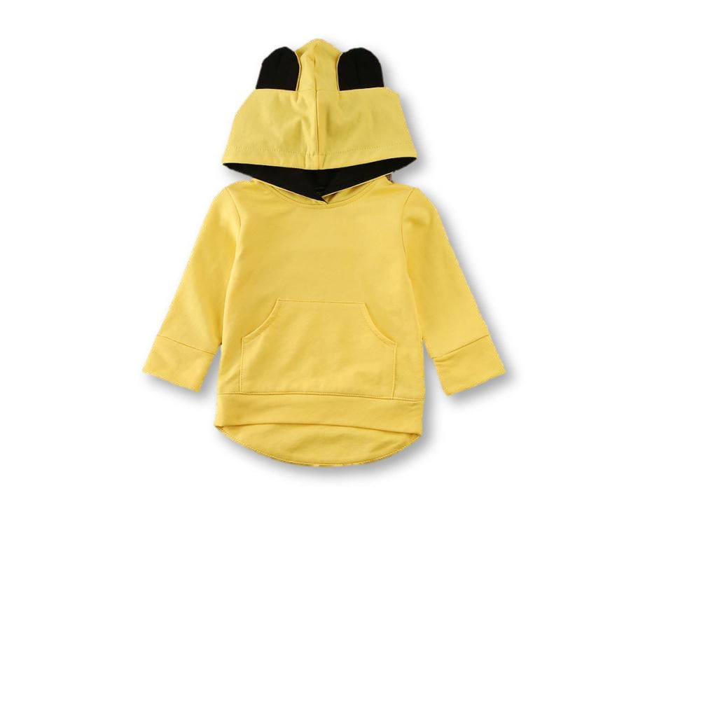 Yellow Ear Detail Hoodie