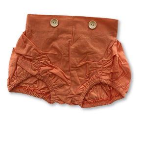 Orange Bubble Button Detail Shorts