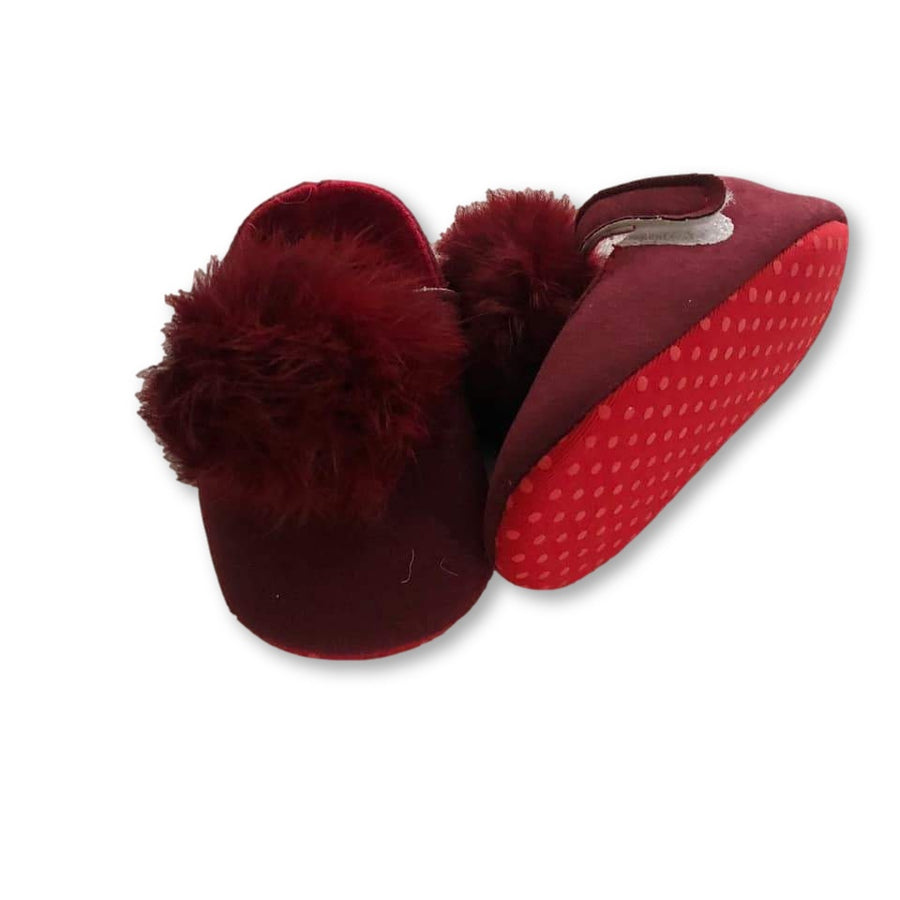 Fur Pom Detail Baby Shoes