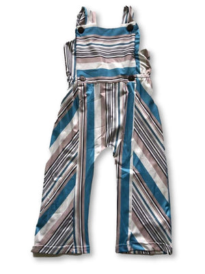 Blue Stripey Overalls