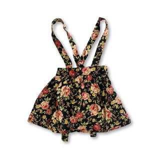 Black Floral Skirtspender