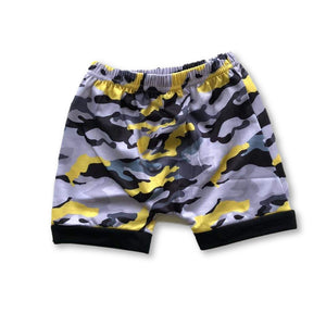 Yellow Camo Harem Shorts