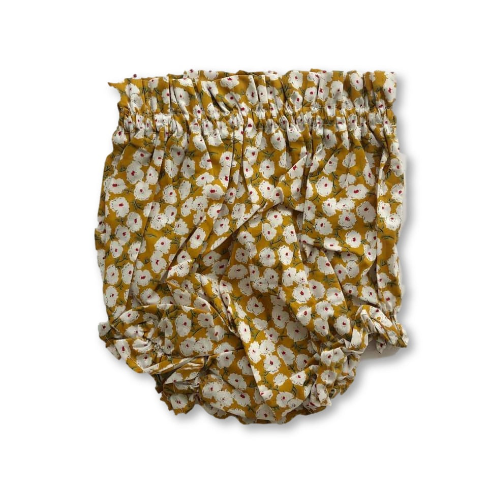 Yellow Ditsy Floral Shorties