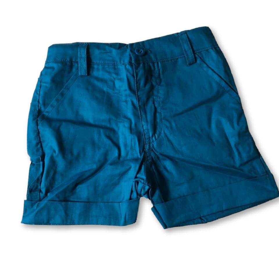 Blue Pocket Detail Shorts