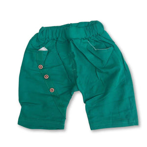 Green Button Detail Shorts