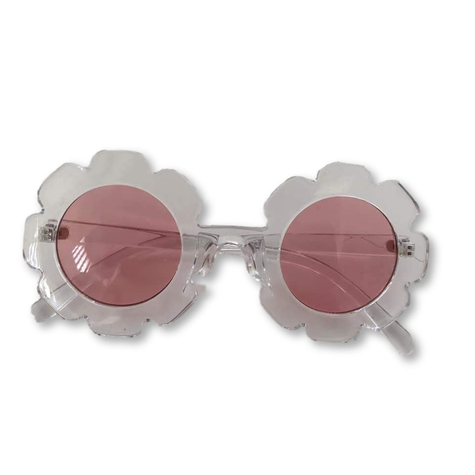Clear Scalloped Sunglasses