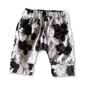 White Splatter Pocket Detail Shorts