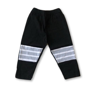 Black & Gray Stripe Detail Pants