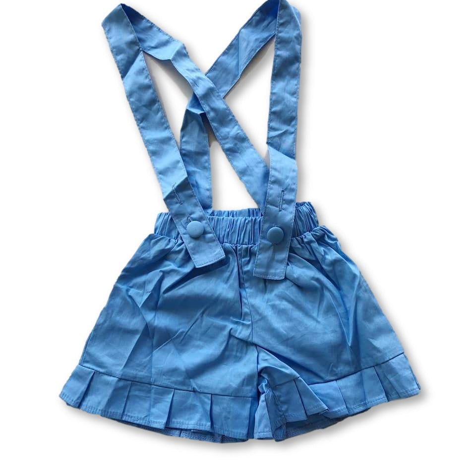 Blue Frill Hem Shortspenders