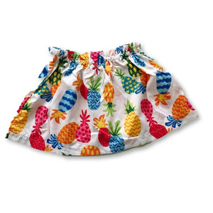 White Pineapple Print Skirt