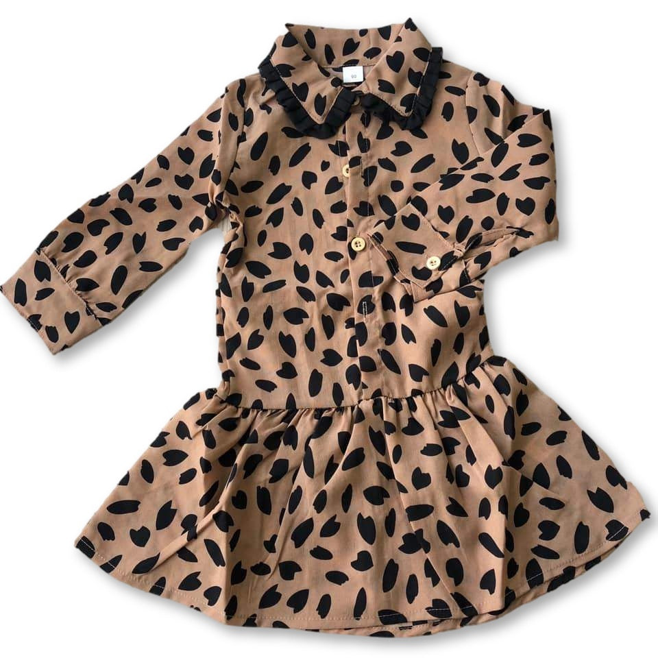 Brown Animal Print Dress