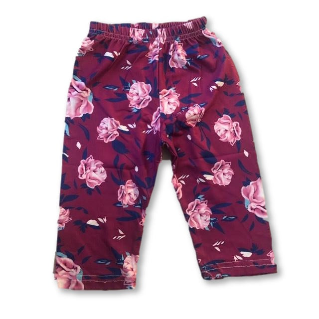 Purple Floral Pants