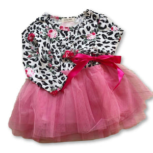 Hot Pink Animal Print Tutu Dress