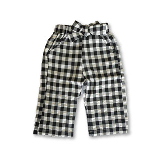 Gingham Bow Detail Trousers