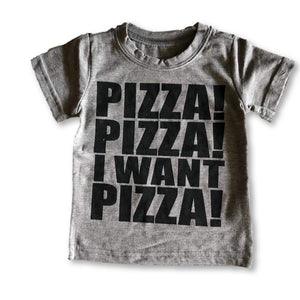 Gray Pizza Slogan Tee