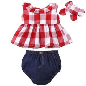 Plaid Picnic Jean Set