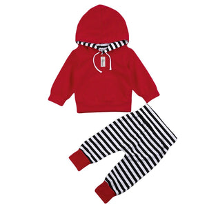 Long Sleeve Striped Hoodie set