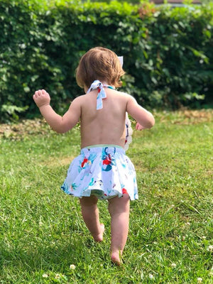 Little Mermaid heart romper