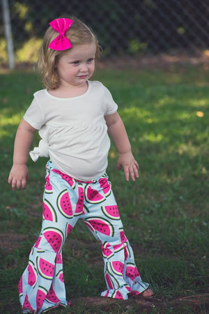 Watermelon flare pants