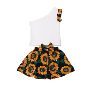Sunflower One Shoulder Set