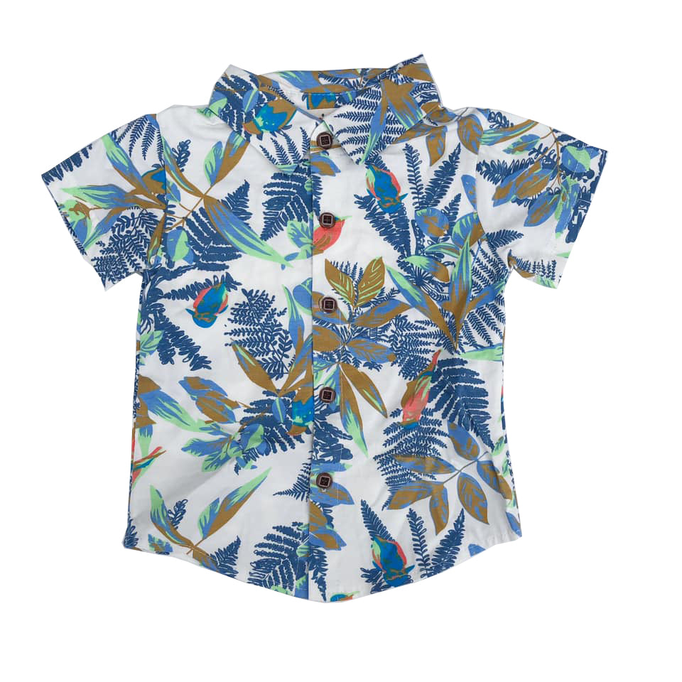 Button And Collar Detail Vacay Shirt