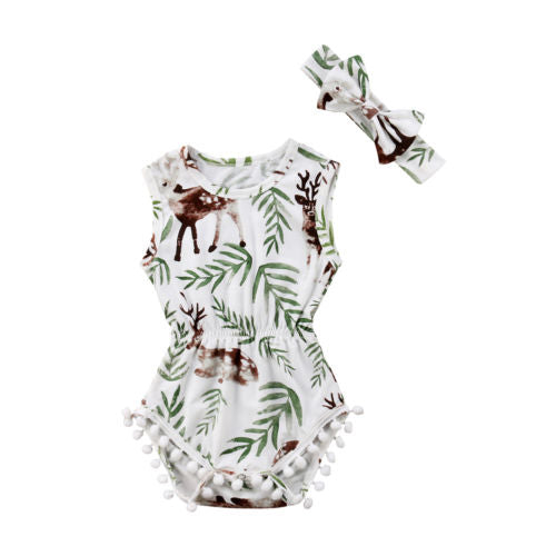 Little Deer pom pom romper
