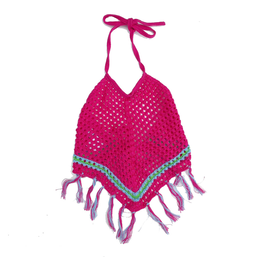 Hot Pink Crocheted Halter