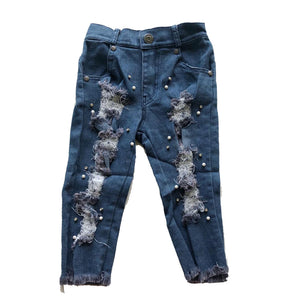 Embellished Distressed Jeans
