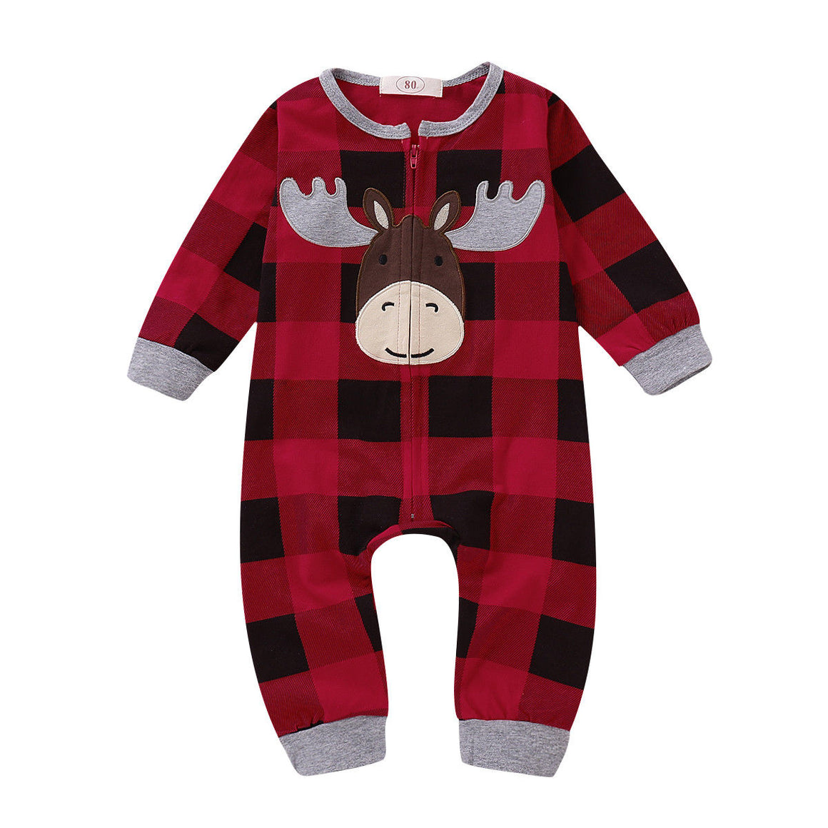 Plaid Reindeer Jumper