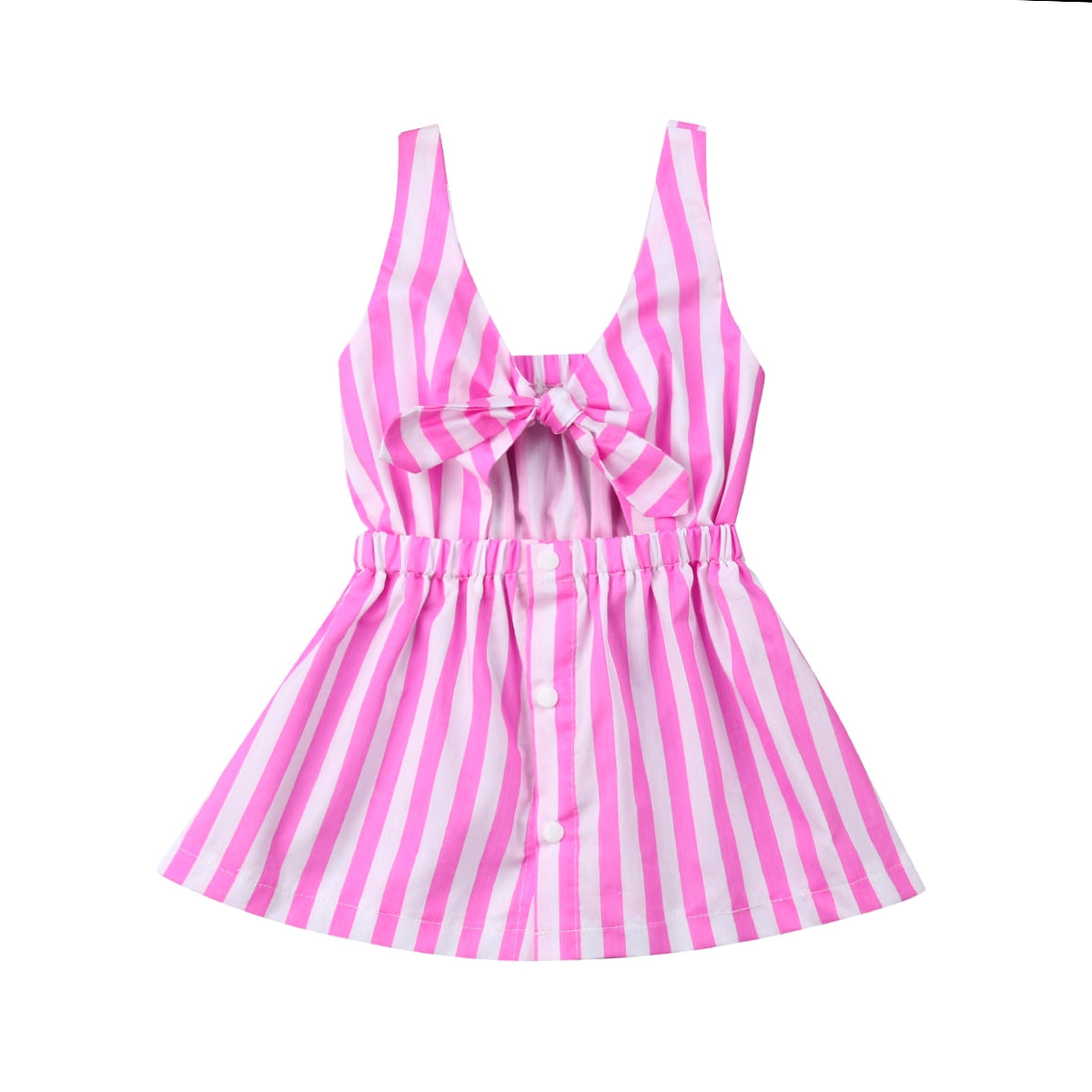 Pink Mommy & Me Striped Dress