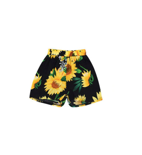 Flowy Sunflower Shorts