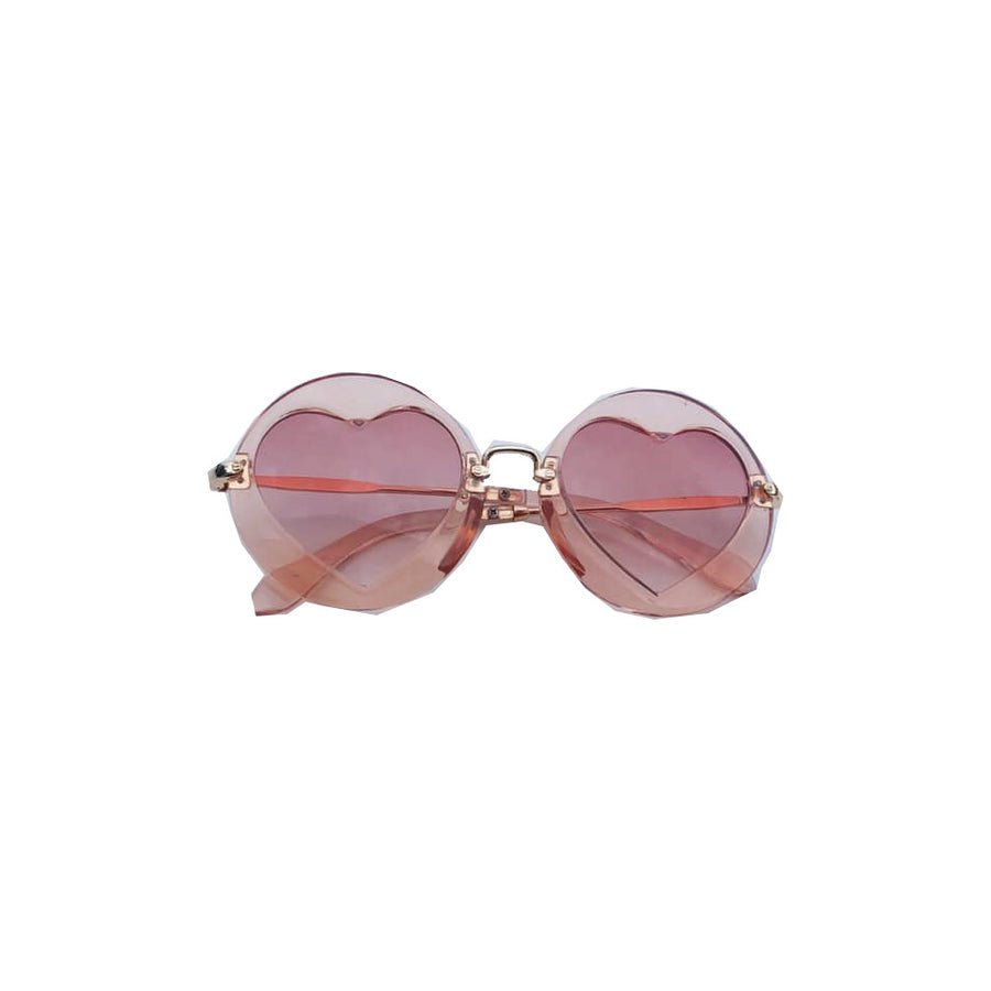 Clear Round Heart Sunglasses