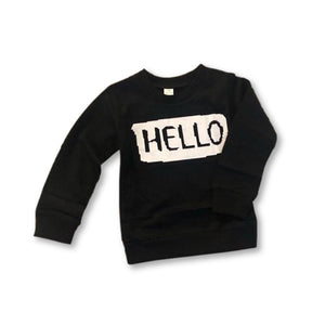 Black Slogan Sweater Top