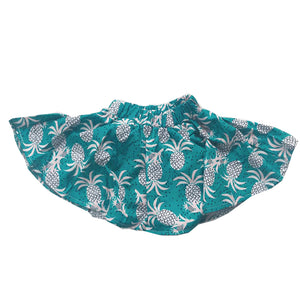 Jade Pineapple Flowy Mini Skirt