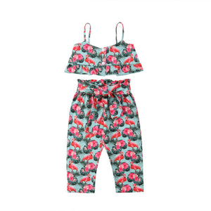 tropical flamingo set