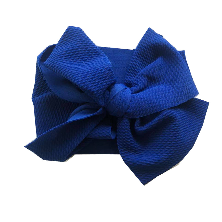 Royal Blue Textured Headwrap