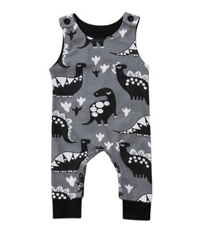 Dark Gray Dinosaur Jumper