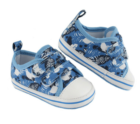 Blue Tropical Shoes